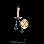 TORINO Crystal Gold Coloured Wall Light IL30321