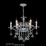 Zinta six arm light fitting