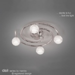 Dali 3 Arm Swirl SemiFlush Ceiling Light