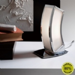 Duna Polished Chrome Modern Table Lamp M0395