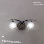 M0817BC/S Fragma Twin Wall Light
