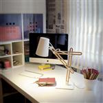 Looker Wood/White Table Lamp M3615