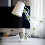 Looker White/Green Adjustable Table Lamp M3614