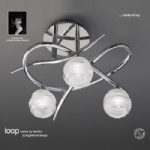 Loop 3 Light Semi Flush Fitting