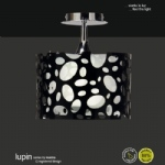 Lupin Low Energy Small Semi Flush Ceiling Pendant
