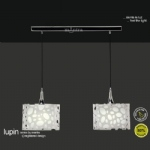 M1360 Lupin White Ceiling Pendant