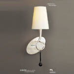 M0538/S/CS Paola Single Wall Light With Cream Shade