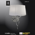 Ninette 2 Light Switched Wall Light