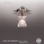 Rosa Del Desierto Single Semi Flush Light
