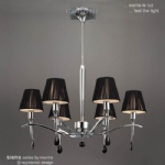 Siena Height adjustable 6 Arm Ceiling Fitting