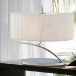 Eve Polished Chrome/ Ivory Table lamp M1138