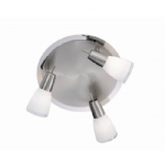 11843-55 Doro Ceiling 3 Light Stainless Steel.