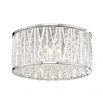 6101-17 Lefes Chrome LED Crystal Ceiling Light