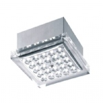 Pasadena LED Chrome Square Flush Fitting PN0660