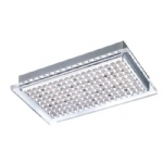 Futura LED Rectangular Chrome Flush Fitting 6130-55