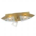 6670-11 Vina Old Brass Triple Spotlight