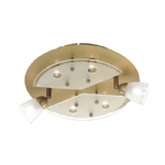 6671-11 Vina Old Brass Circular Ceiling Spotlight