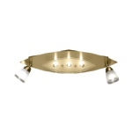 6672-11 Vina Old Brass Ceiling Spotlight