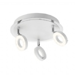 Parakou Triple LED White Circular Spotlight PN0645