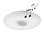 8082-16 Pelvo Large LED Round White Flush Light