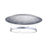 Nevis Circular LED Silver Ceiling Light 8135-21