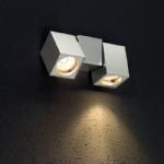 CUB Adjustable aluminium Double Spot Wall Light 9987-95