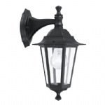 Laterna 4 Black Downwards Outdoor Wall light 22467