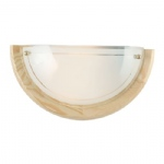 3892 Ufo 1 Single Pine And Frosted Glass Wall Light