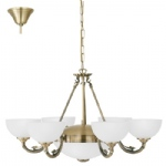 Savoy Antique Brass 8 Light Multi Arm Pendant 82749