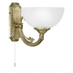 Savoy Antique Brass Wall Light 82751
