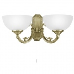 Savoy Double Wall Light 82752 Antique Brass