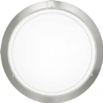 Planet 1 Matt Nickel Flush Ceiling Fitting 83162