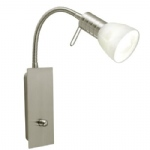 Prince 1 satin Nickel Wall light 86428