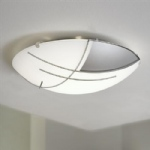 89758 Raya Flush Ceiling Light - Round