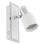 Davida LED Wall Light White & Chrome 92084