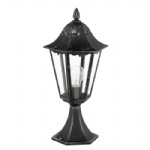 Navedo IP44 Black Post Light 93462