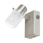 93701 Orvieto 1 LED Satin Nickel Single Spotlight