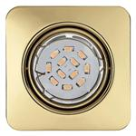 Pento Square Recessed Brass LED spotlight 94402