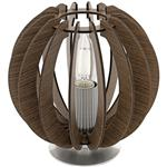 Cossano Round Table Lamp In Dark Brown 95793