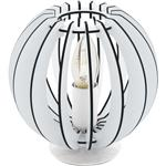 Cossano Round Wooden Table Lamp In White 95794