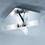 Chrome Bathroom Flush Light CF1286