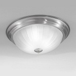 Satin Nickel Flush Ceiling Light KT5642