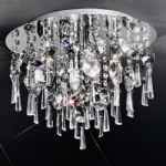 Jazzy Small Flush Crystal Ceiling Light CF5716