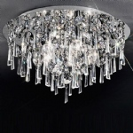 Jazzy Flush Crystal Ceiling Light CF5717