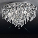 CF5718 Jazzy Large Flush Crystal Ceiling Light