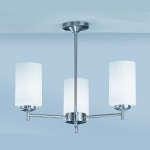 Feya Satin Nickel 3 Lamp Semi Flush Light KN9303/727