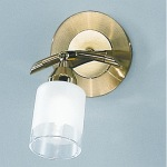 Campani Satin Brass Wall Light DP40011