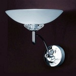 Foxglove Chrome Single Wall Light TP2006/1