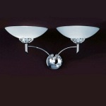Foxglove Chrome Double Wall Light TP2006/2