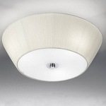 FL2134/3 Fabric Flush Ceiling Light